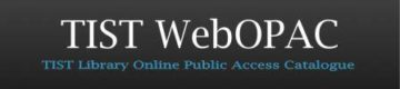 TIST WebOpac